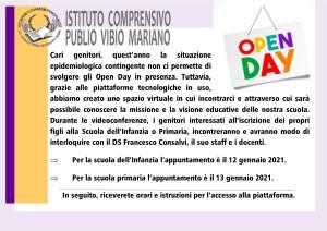 Open day Inf. e Prim